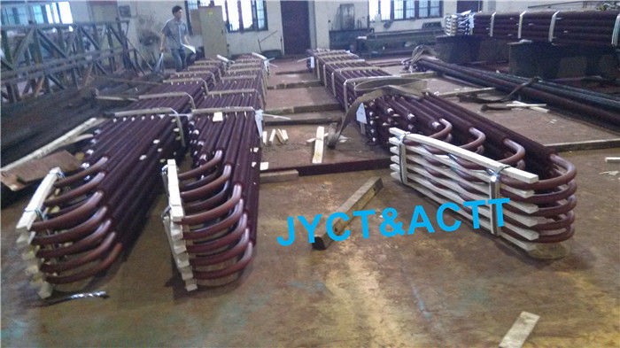 Customized U Bend HFW Sprial Fin Tubes , Welded Continuous Bolier Fin Tube