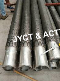 China High Frequency Welded Spiral Finned Tubes , Serrated Fin Tube For Heat Exchanger factory