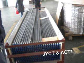 Wrapped L Footed Fin Tube Steel Pipe , Seamless Tension Wound Finned Tubes