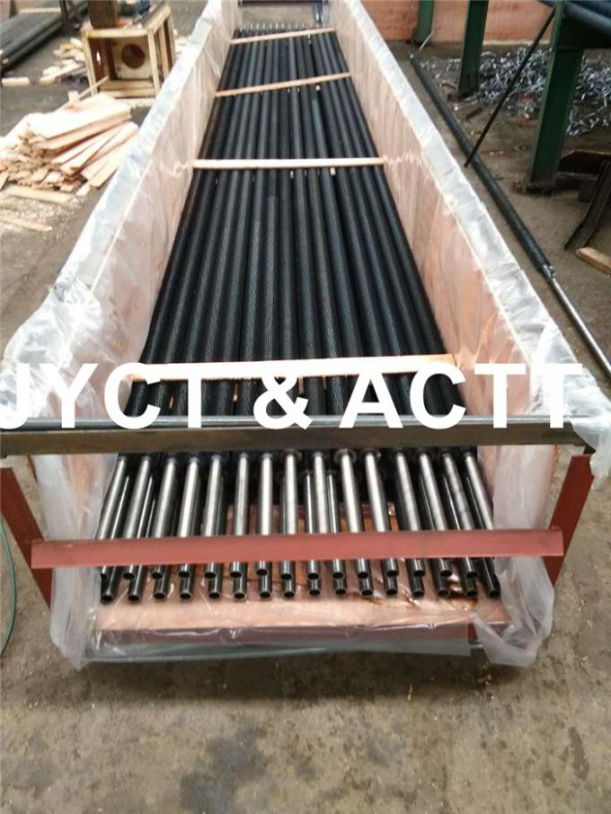 Steel Round HFW Sprial Settated Fin Tubes For Economizers / Fired Heater