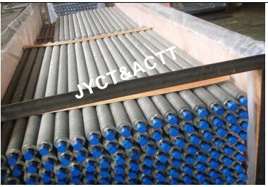 Extruded Aluminium Finned Tubes , ASME SA-179 Heat Exchanger Fin Tube