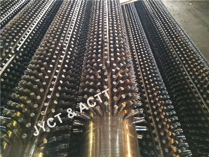 ASTM A106 Screwhead Stud Tubes / Studded Pipe For HRSG Refinery 152X10X7000mmL