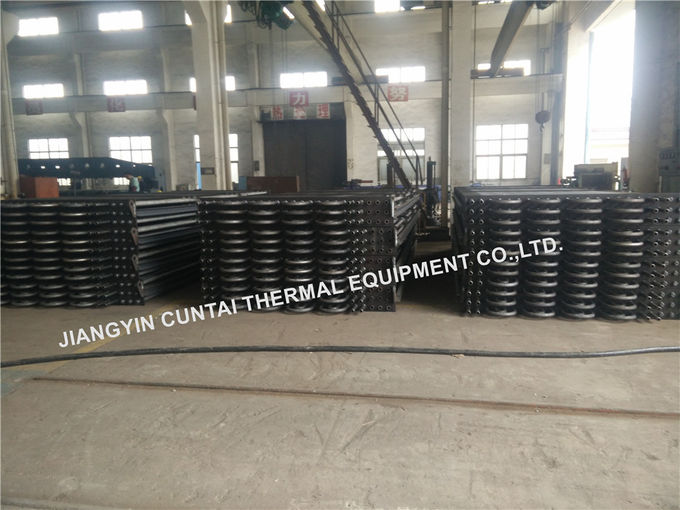 Steel Welded HH Square Fin Tube For Waste Heat Recovery SA192 SMLS Tube Material